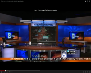 KTLA anchors took a dive when their studio started shaking, leaving the desk empty when the viewers needed them most.