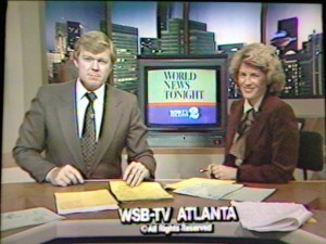 With Wes Sarginson on WSB-TV Atlanta's Action News in the 1970s.