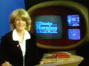 Doing the morning cut-ins at WTVJ in Miami after legendary evening anchor Ralph Renick refused to co-anchor with a woman.